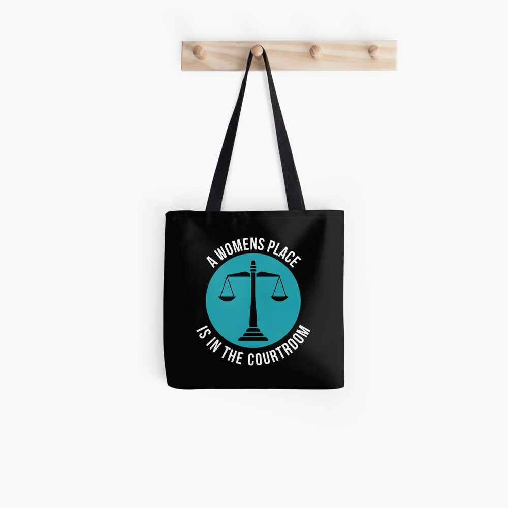 A Womans Place Is In The Courtroom Shirt Female Lawyer Gift Stofftasche