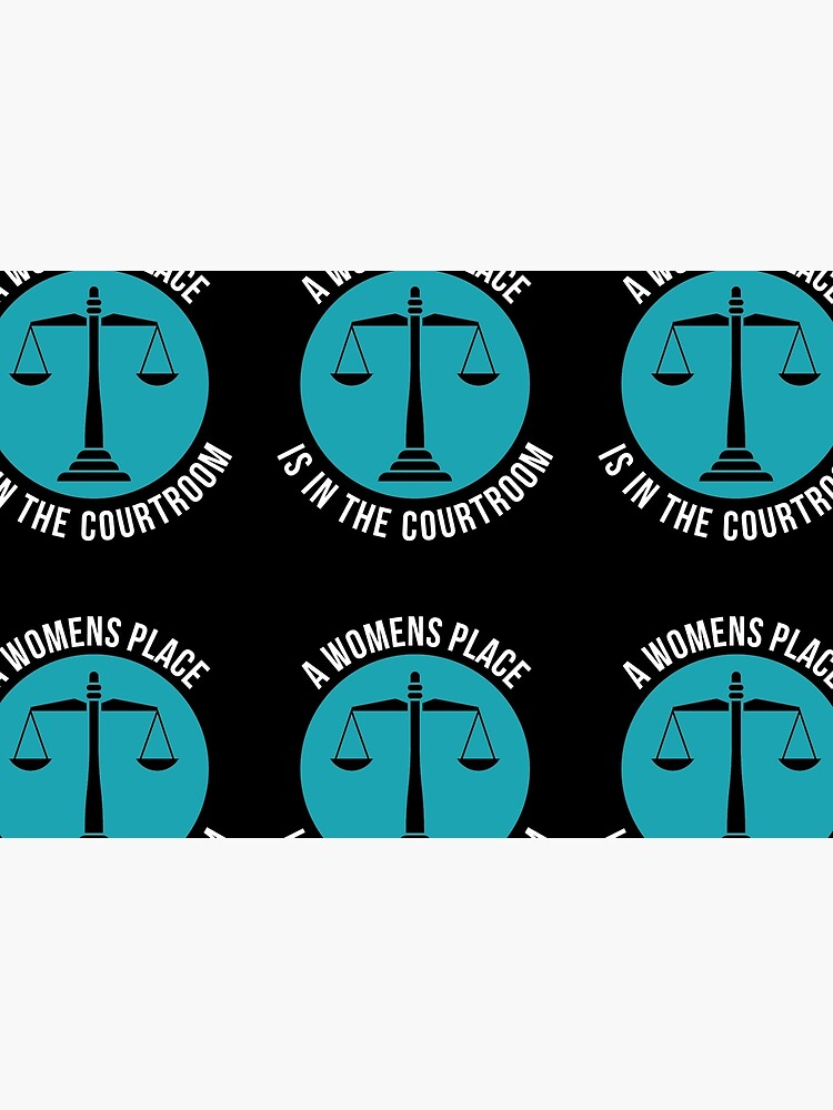A Womans Place Is In The Courtroom Shirt Female Lawyer Gift von davdmark