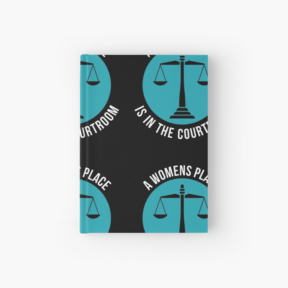A Womans Place Is In The Courtroom Shirt Female Lawyer Gift Notizbuch