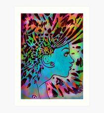 Psychedelic Goddess Art Print