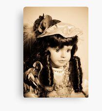 Doll with dark curls Canvas Print