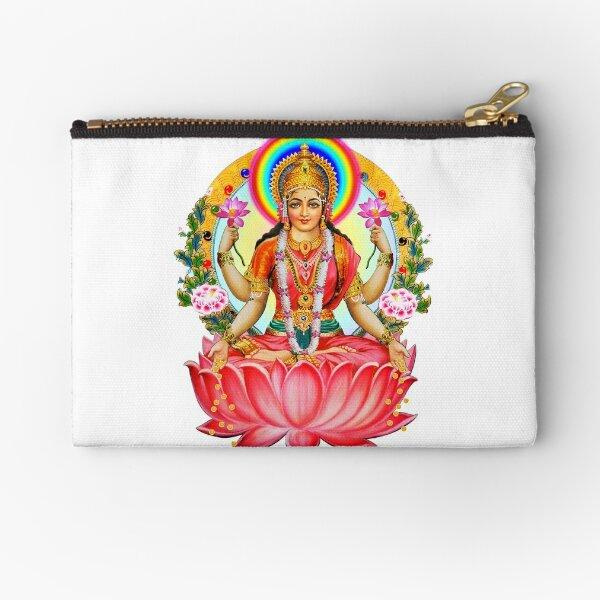 Shree Lakshmi, Goddess of Wealth and Abundance Zipper Pouch