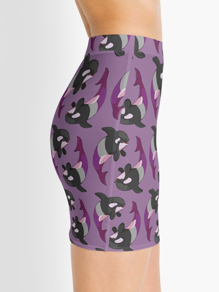 Alternate view of Asexuwhale - no text Mini Skirt
