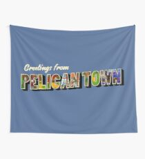 Greetings from Pelican Town | Stardew Valley Retro Postcard Wall Tapestry