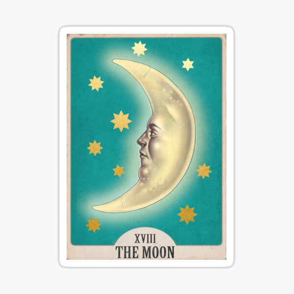 "XV ""THE MOON"" Tarot Card  Sticker"