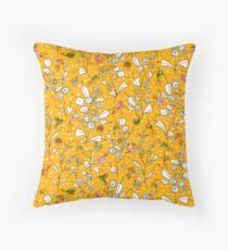 Bye, Bye Birdie - Yellow Floor Pillow