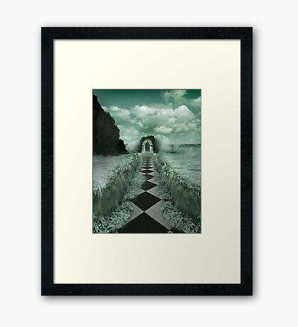ENTRANCE TO THE OCEAN Framed Print