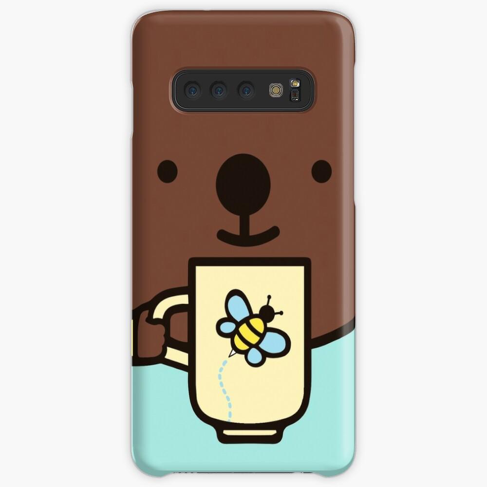 Genießen Sie die Kaffeezeit mit Kegel. Hülle & Klebefolie für Samsung Galaxy
