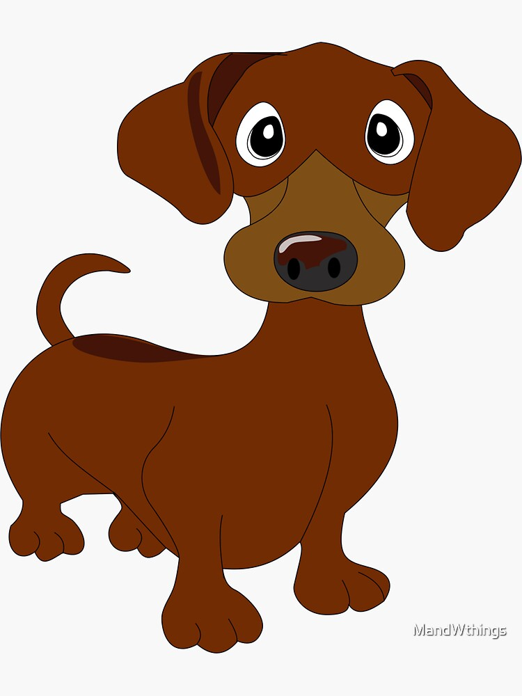 Red Dachie Dachshund by MandWthings