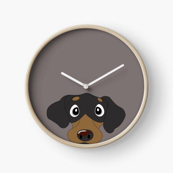Black & Tan Dachie Dachshund Clock