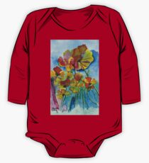 Poppies One Piece - Long Sleeve
