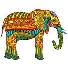 «elefante mandala» de stickersnstuff