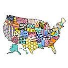 «Estados Unidos coloridos» de stickersnstuff