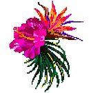 «flor tropical pixel» de stickersnstuff