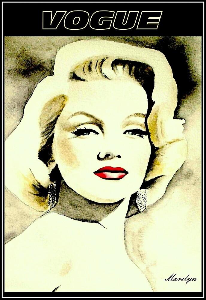 VOGUE: Vintage Marilyn Werbedruck von posterbobs