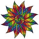 «hojas de flores de arcoiris» de stickersnstuff