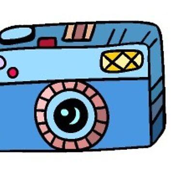 camara azul de stickersnstuff