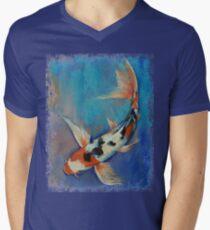 Sanke Butterfly Koi Mens V-Neck T-Shirt