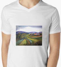 Yorkshire-Rhythmen T-Shirt mit V-Ausschnitt für Männer
