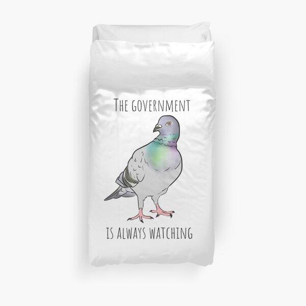 Birds Aren't Real Duvet Cover