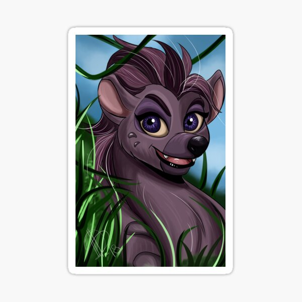 Cartoon Hyena Girl Jasiri Sticker