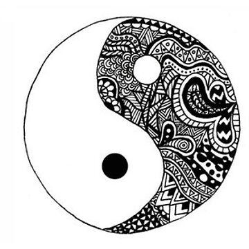 ying yang doodle  by vanessachammas