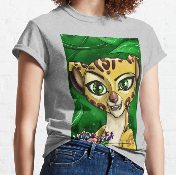 Lion Cartoon Guard Cheetah Classic T-Shirt
