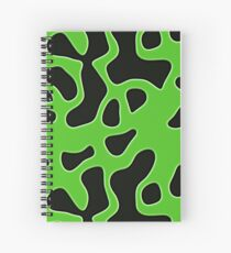 Happy Patterns Amazon or Alien Camouflage Spiral Notebook