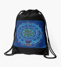 Wassermann Horoskop Mandala Produkte Drawstring Bag
