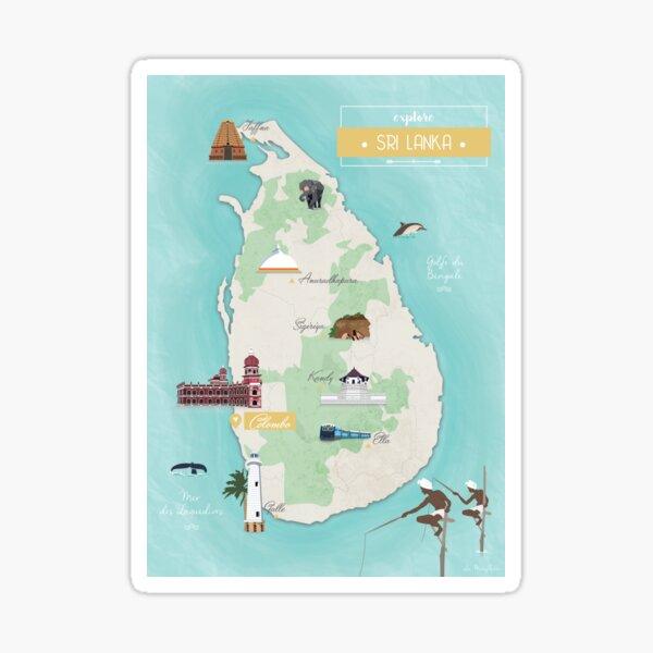 Carte Sri Lanka Sticker