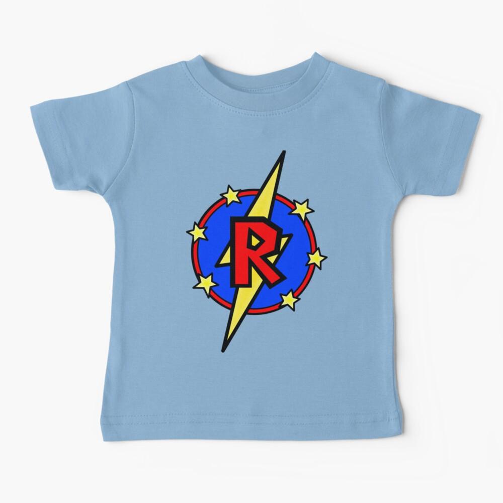 Cute Little SuperHero Geek - Super Letter R Baby T-Shirt