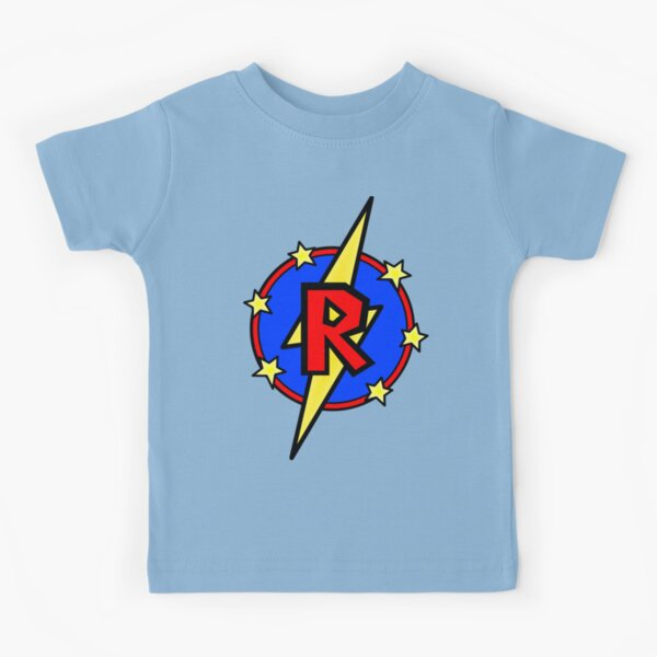 Cute Little SuperHero Geek - Super Letter R Kids T-Shirt