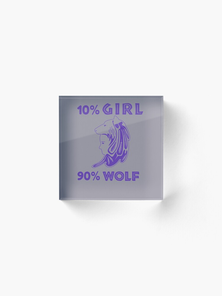 Alternate view of Girl is Wolf Design Acrylic Block