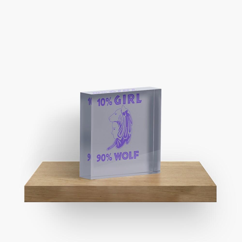Girl is Wolf Design Acrylic Block