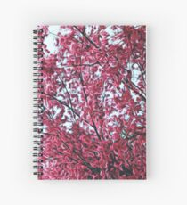 Magical Cherry Blossoms - Dark Pink Floral Abstract Art - Springtime Spiral Notebook