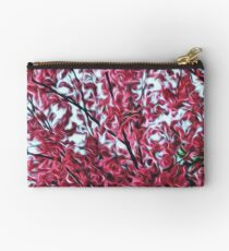 Magical Cherry Blossoms - Dark Pink Floral Abstract Art - Springtime Studio Pouch