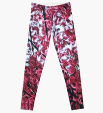 Magical Cherry Blossoms - Dark Pink Floral Abstract Art - Springtime Leggings