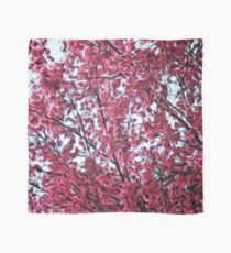 Magical Cherry Blossoms - Dark Pink Floral Abstract Art - Springtime Scarf