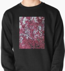 Magical Cherry Blossoms - Dark Pink Floral Abstract Art - Springtime Pullover