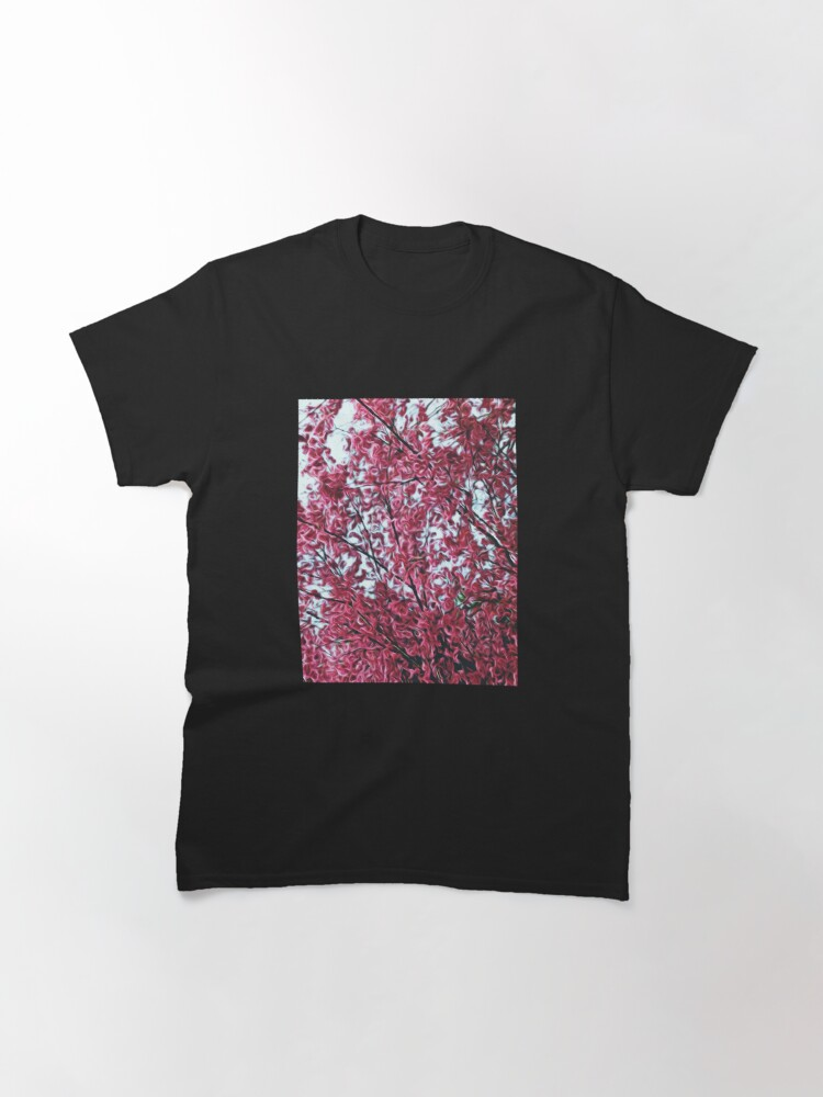 Alternate view of Magical Cherry Blossoms - Dark Pink Floral Abstract Art - Springtime Classic T-Shirt