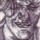 Squint - Biro Sketch by DreddArt