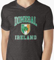 Donegal, Ireland with Shamrock Mens V-Neck T-Shirt