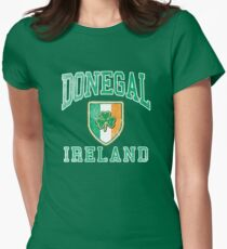 Donegal, Ireland with Shamrock Womens Fitted T-Shirt