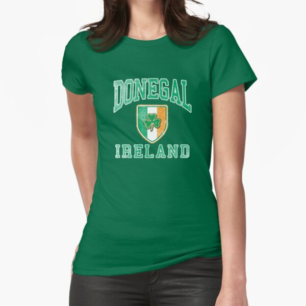Donegal, Ireland with Shamrock Fitted T-Shirt