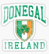 Donegal, Ireland with Shamrock Sticker