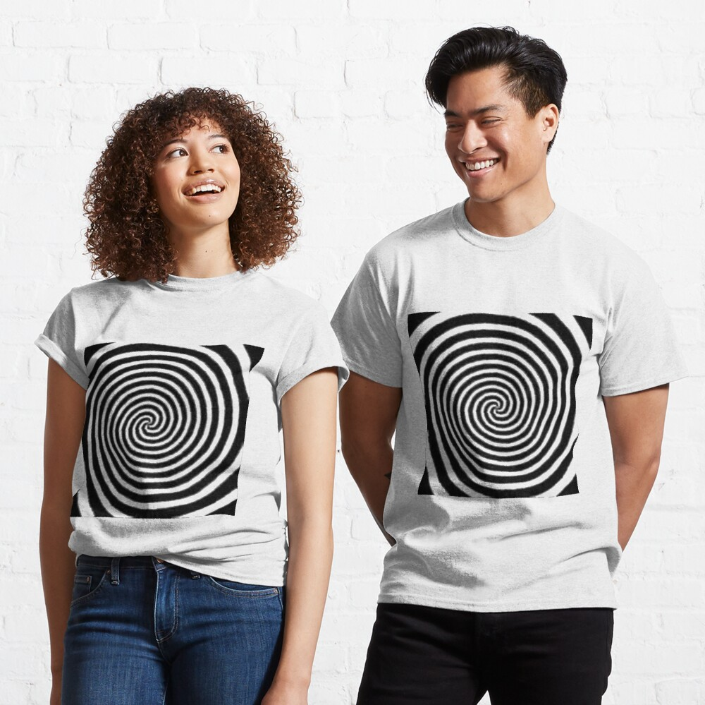 #Spiral #Target #Pattern #Hypnosis illusion vortex  striped circle  Classic T-Shirt