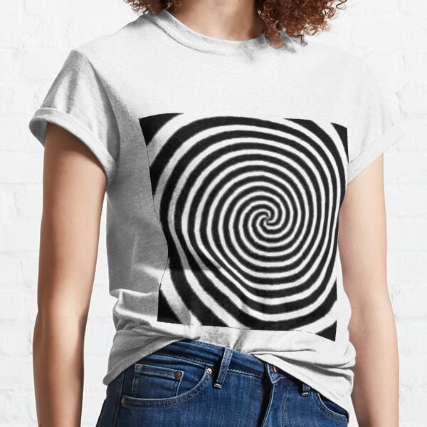 Jewish,  #Spiral #Target #Pattern #Hypnosis illusion vortex striped circle Classic T-Shirt