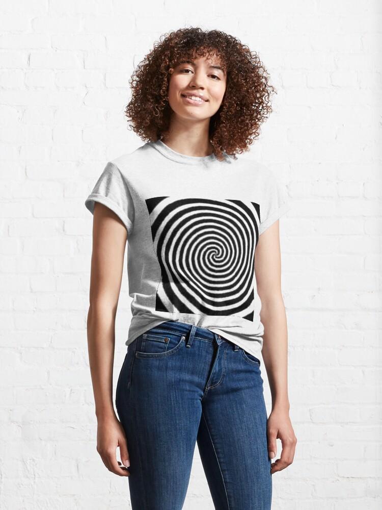 Alternate view of #Spiral #Target #Pattern #Hypnosis illusion vortex  striped circle  Classic T-Shirt