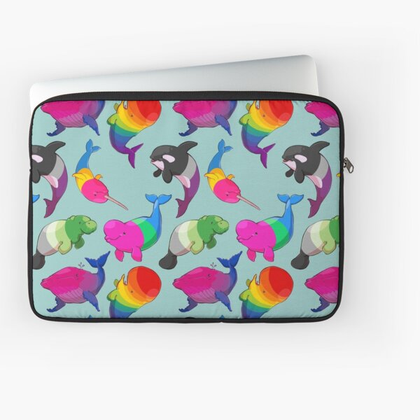 Sexuality Whales (And Aromanatee) Pattern Laptop Sleeve