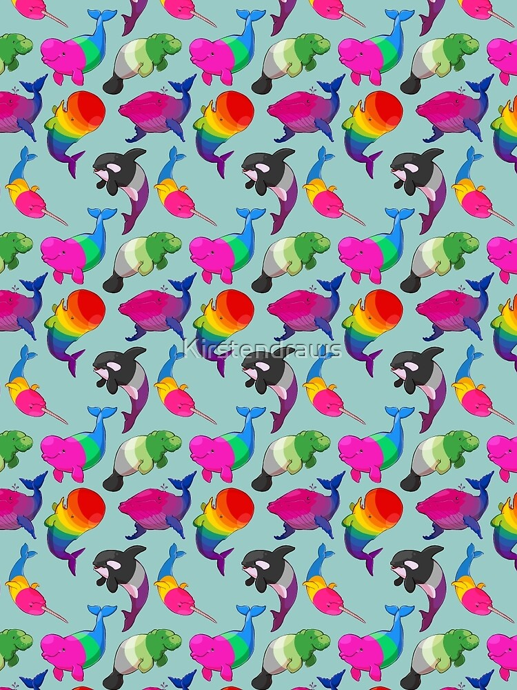 Patrón de Ballenas de Sexualidad (y Aromanato) de Kirstendraws